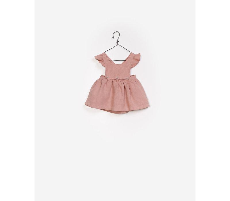 Play Up Linen Dungaree Skirt