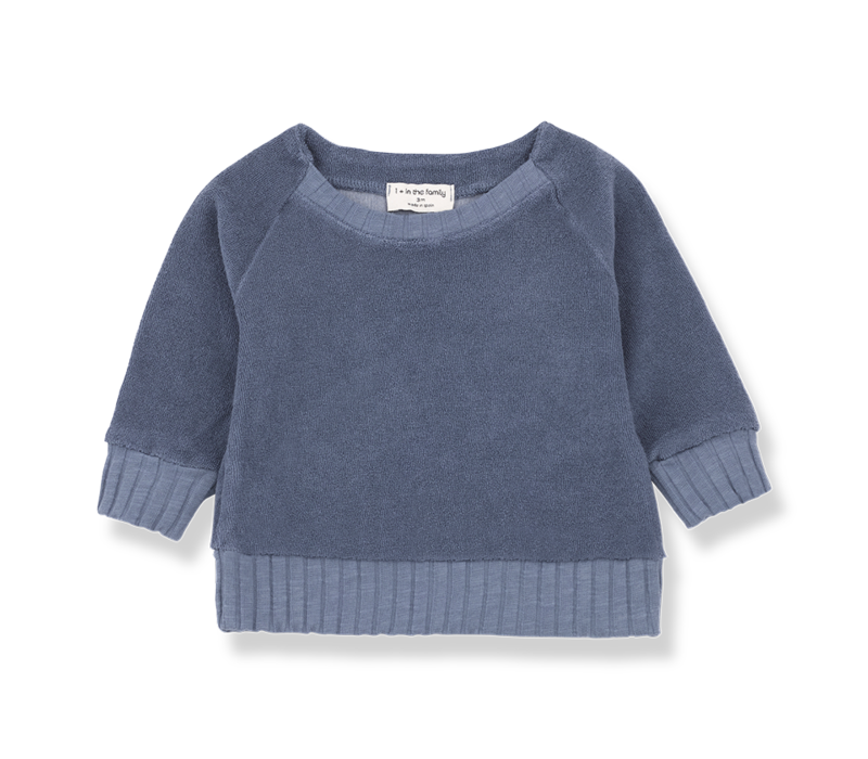 1+ in the Family Sweatshirt Etienne Indigo