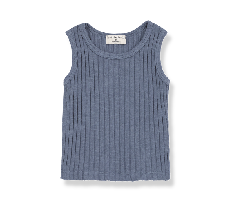 1+ in the Family Tanktop Lea Indigo