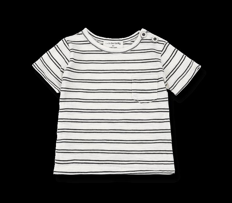 1+ in the Family t-shirt Luca Off White / Black