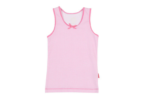Claesens Girls singlet pink checks