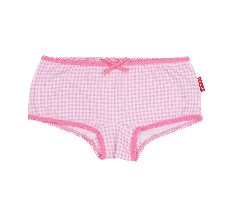 Girls 2-pack hipsters pink checks