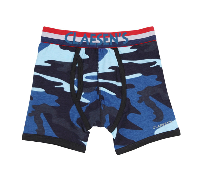 Claesen's boxer 2-pack light blue/ army