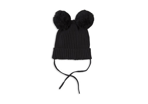Mini Rodini Mini Rodini hat with ears_Black