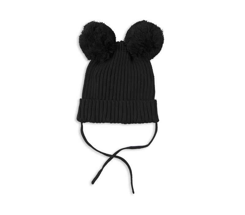 Mini Rodini hat with ears_Black
