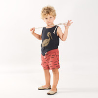 Lotiekids Tank Top Pelican Washed Black