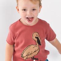 Lotiekids T-shirt Retro Saint Malo Washed Red