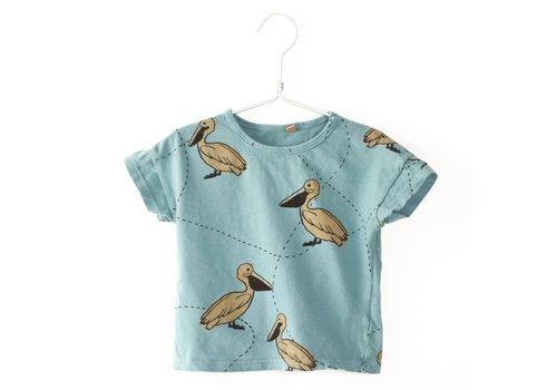 Lötiekids Lotiekids T-shirt Short Sleeve Pelicans Turquoise
