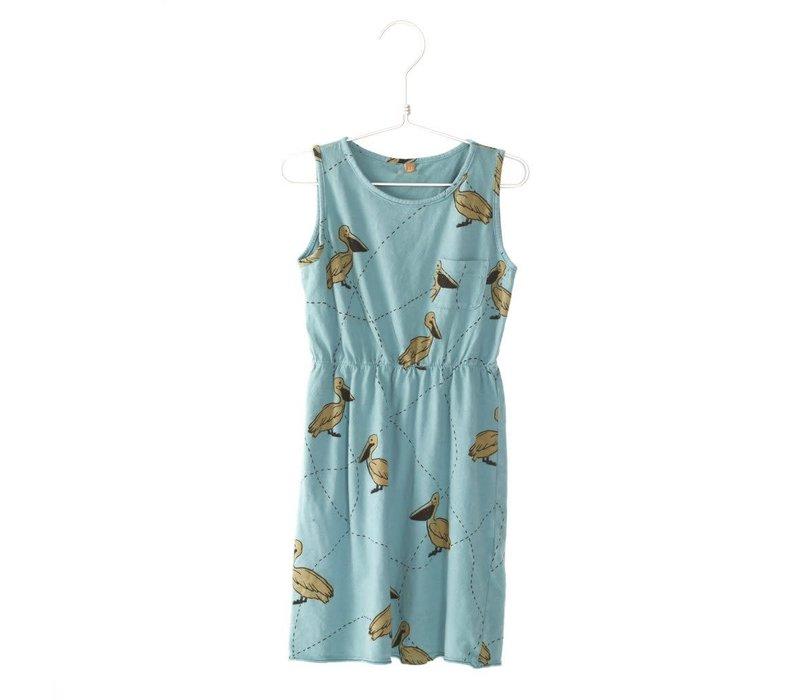 Lotiekids Dress Pelicans Turquoise