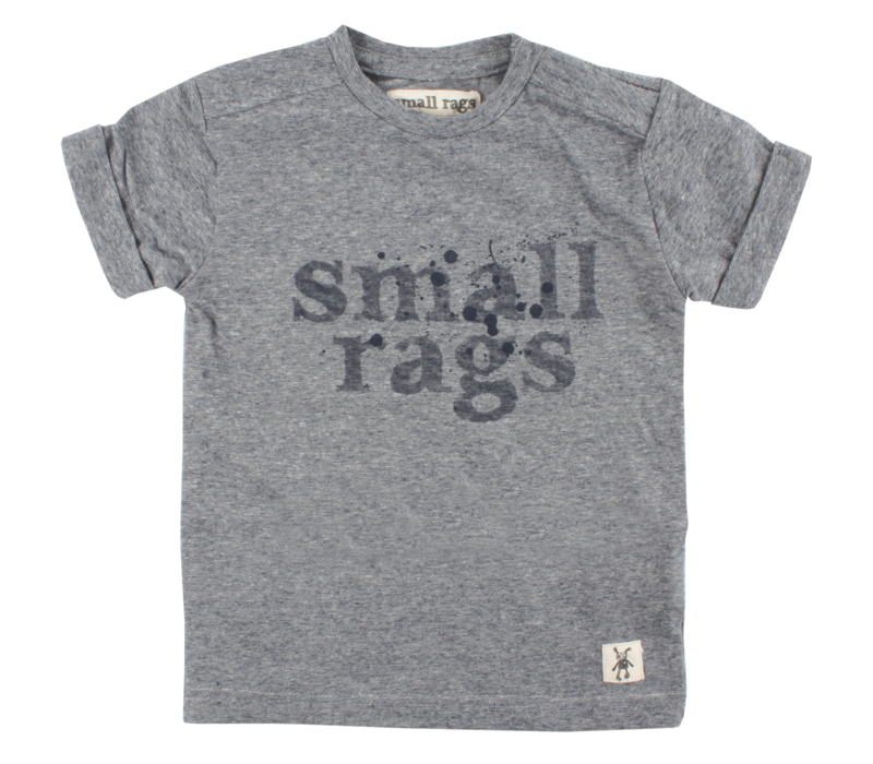 Small Rags short sleeve baby boys navy spatten
