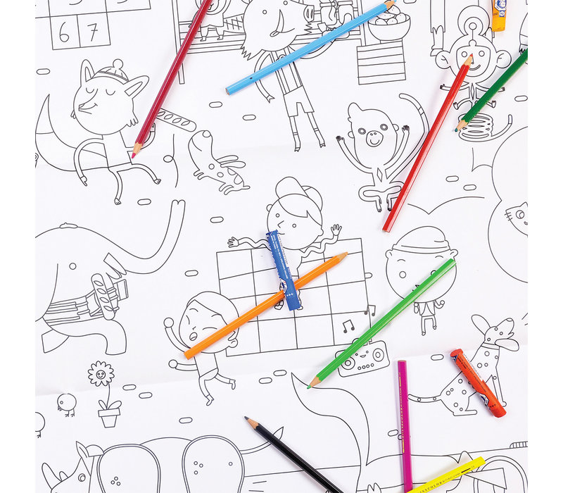 Makii -Turbo - Coloring page - City