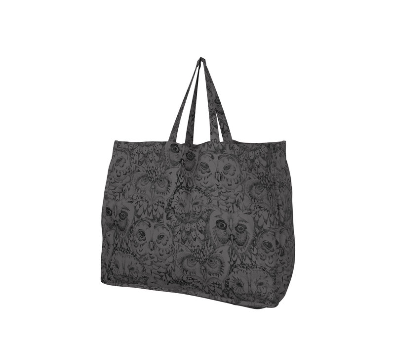 Soft Gallery - Weekend bag- AOP Owl grey
