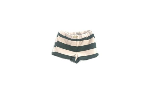 Long Live the Queen Long live the queen striped sporty shorts green