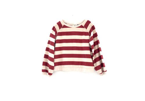 Long Live the Queen Long live the Queen rust stripe terry Sweater