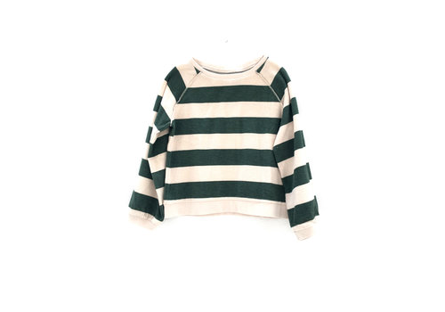 Long Live the Queen Long live the Queen green stripe terry Sweater