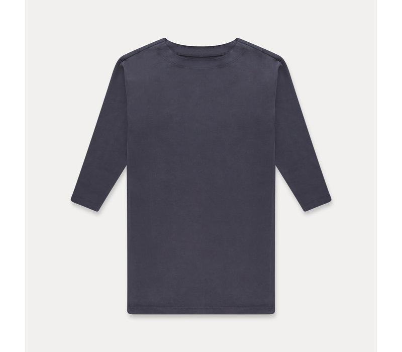 Repose t-shirt dress greyish blue