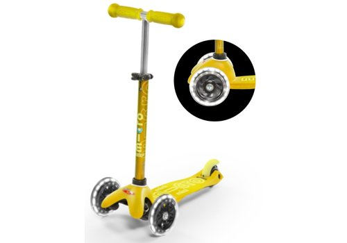 MICRO MINI MICRO  SCOOTER DELUXE YELLOW LED