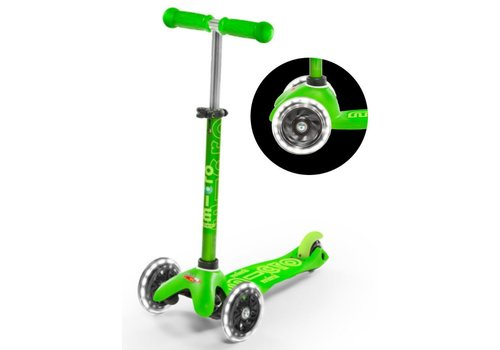 MICRO MINI MICRO SCOOTER  DELUXE GREEN LED