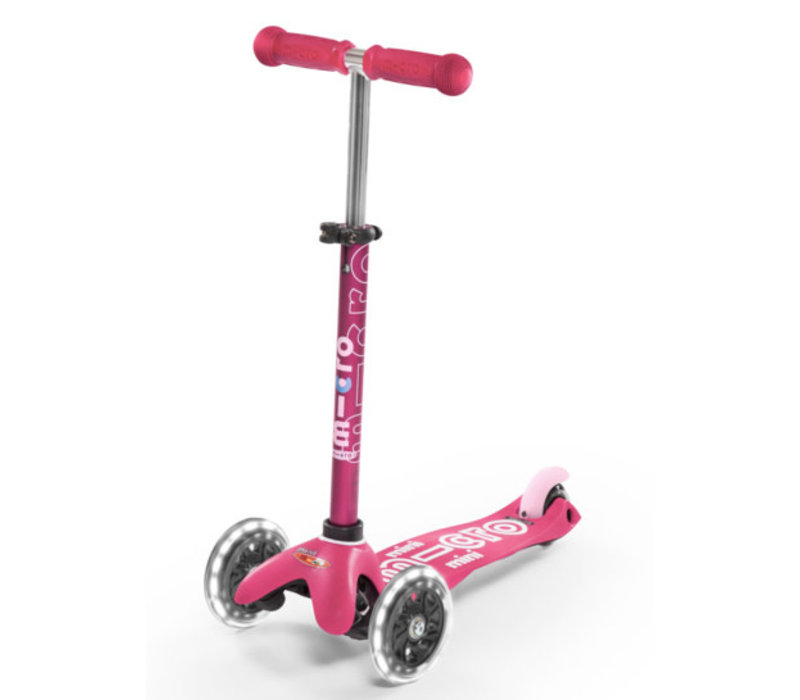 MINI MICRO SCOOTER DELUXE PINK LED