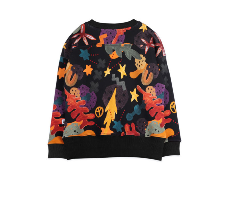 Ammehoela Sweater Rocky.07 Forest aop