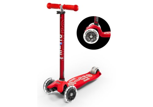 MICRO MAXI MICRO SCOOTER DELUXE RED LED