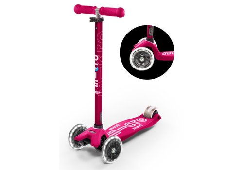 MICRO MAXI MICRO SCOOTER DELUXE PINK LED