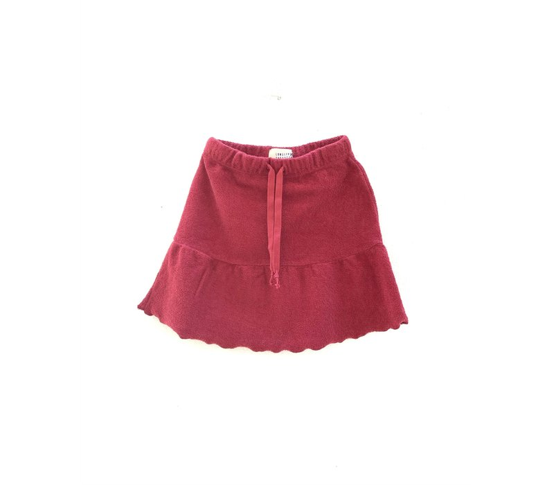 Longlivethequeen terry skirt brick
