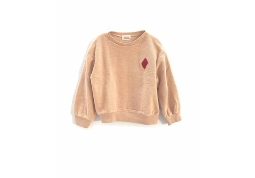 Long Live the Queen longlivethequeen rough terry sweater nude
