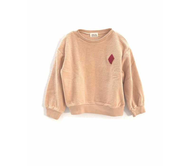 longlivethequeen rough terry sweater nude