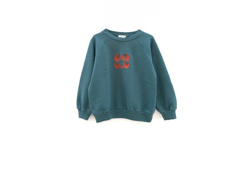 Long Live the Queen longlivethequeen raglan sweater petrol