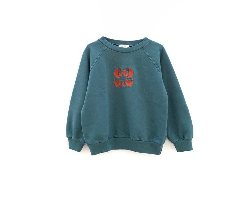 longlivethequeen raglan sweater petrol