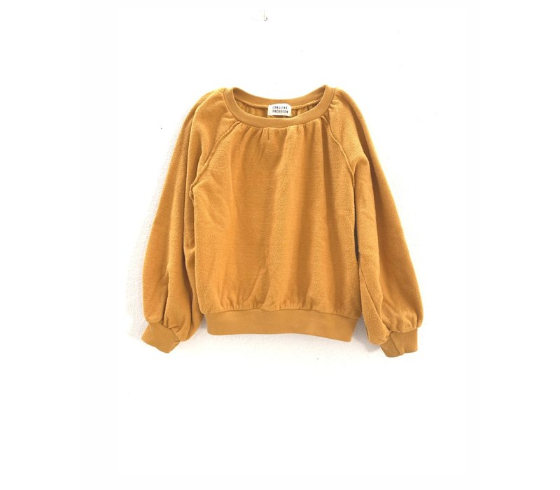 Longlivethequeen terry sweater yellow