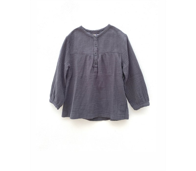 longlivethequeen crinkle blouse blue