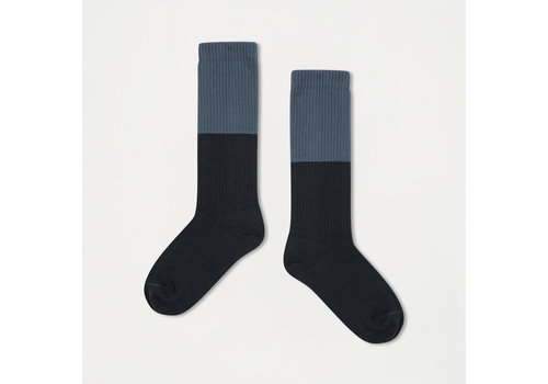 Repose AMS Repose AMS 41. Socks mid stone blue with blue