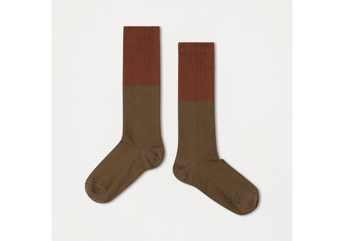 Repose AMS Repose AMS 41. Socks dark olive with hazel
