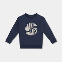 Repose AMS 24. Sweater washed blue making waves
