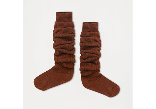 Repose AMS Repose AMS 43. Woolly high socks hazel brown