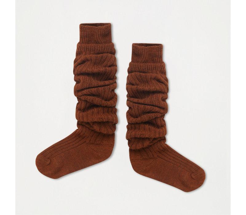 Repose AMS 43. Woolly high socks hazel brown