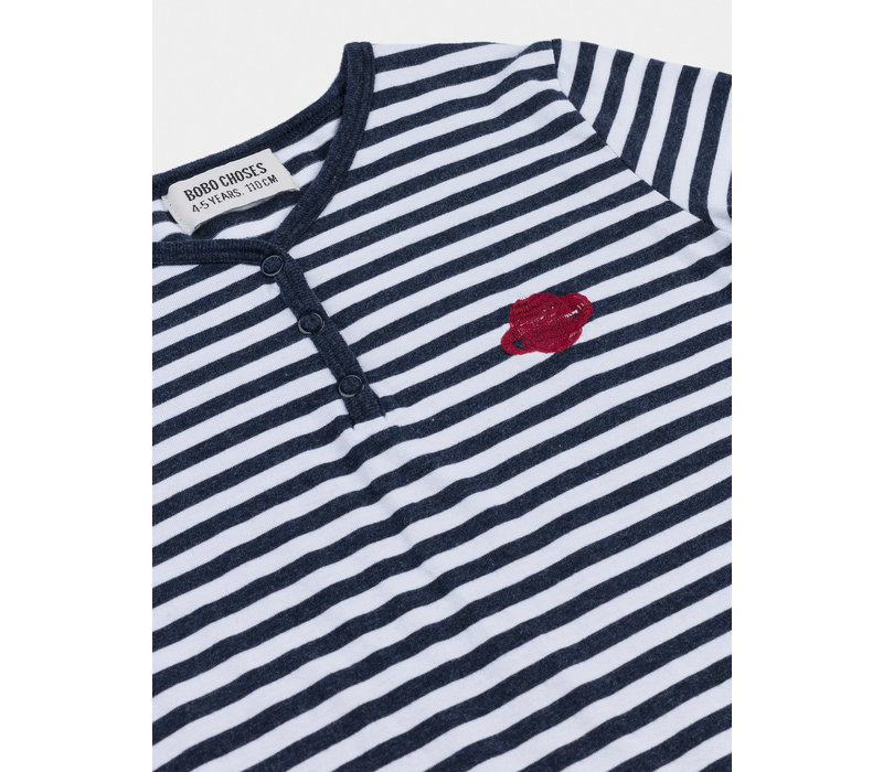 Bobo Choses Saturn snap Buttons T-shirt