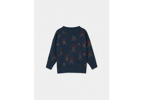 Bobo Choses Bobo Choses All Over Vulcano Sweater Estate Blue