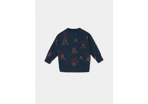 Bobo Choses Bobo Choses Sweater All over Volcano Estate Blue