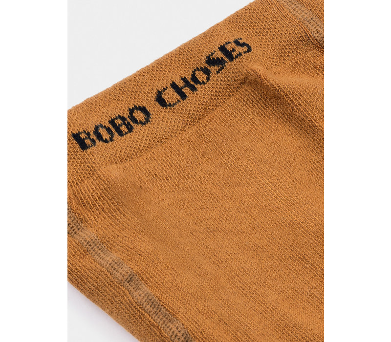 Bobo Choses Tights Red Flag Gold Earth