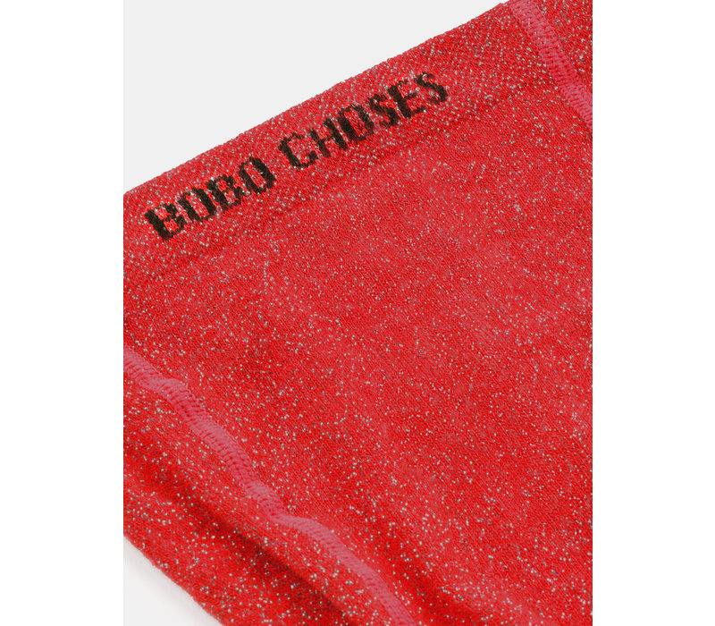 Bobo Choses Tights Red Lurex