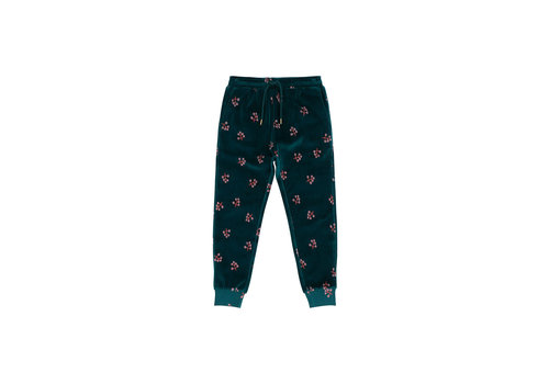 Soft Gallery Soft Gallery Pants Charline Deep Teal AOP Winterberry