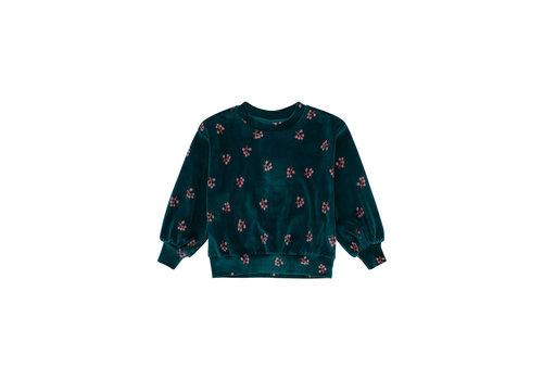 Soft Gallery Soft Gallery Sweatshirt Elvira Deep Teal AOP Winterberry