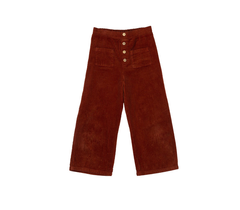 The Campamento Pants TCAW29 Brown rib