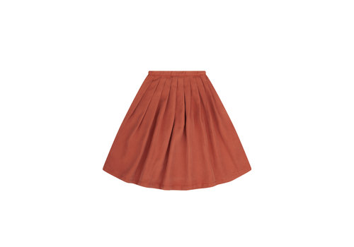 Mingo Mingo Midi Skirt Red Wood