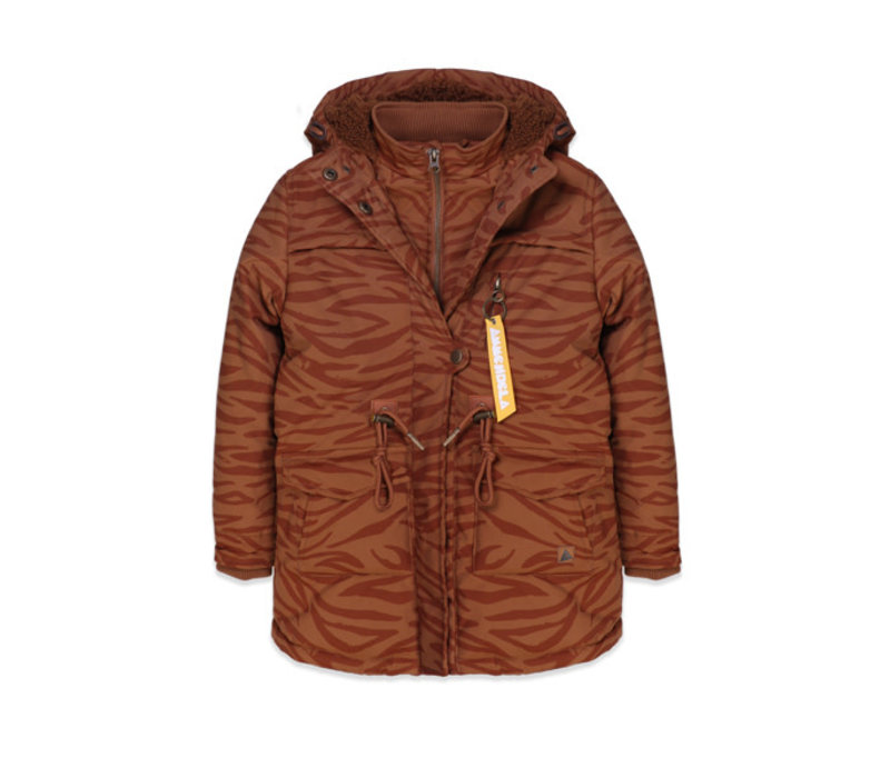 Ammehoela Jacket Storm.04 Brown/Tiger