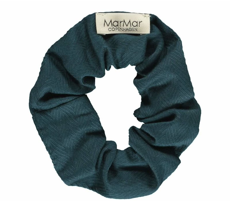 MarMar Copenhagen Scrunchie Solid Oily Blue