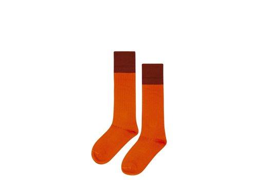 Mingo Mingo Knee socks Bitter Chocolate - Cinamon